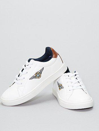 Schoenen - Lage sneakers van imitatieleer - Kiabi