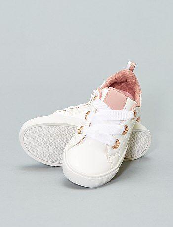 Lage sneakers van synthetisch leer - Kiabi