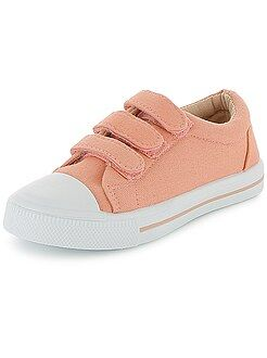 Meisjesschoenen - Lage stoffen sneakers met klittenband
