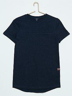 Lang, effen T-shirt