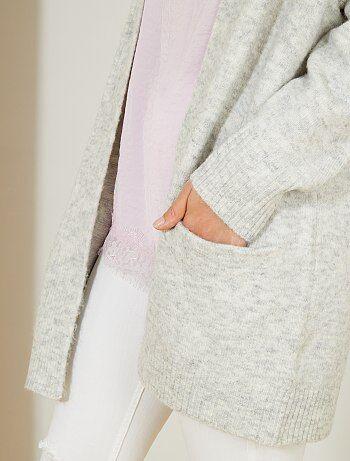Lang vest van dik tricot - Kiabi