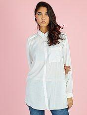 Lange blouse van viscose