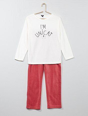 Lange fleece pyjama - Kiabi
