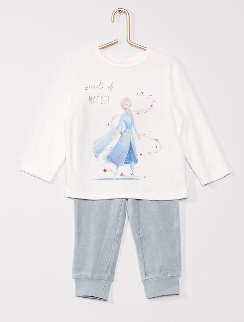Lange, fluwelen pyjama 'Frozen 2'                                         WIT