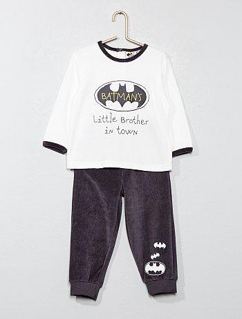 Lange fluwelen pyjama van 'Batman' - Kiabi