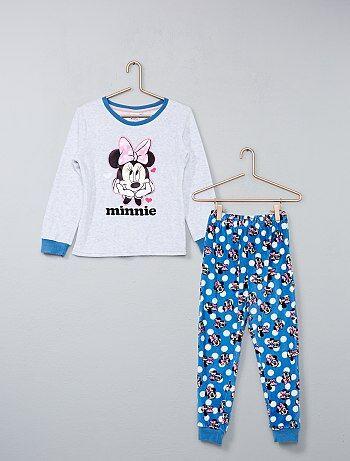 Lange fluwelen pyjama van 'Minnie' - Kiabi