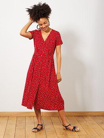 f7f074cedf572e Lange jurk met print - Kiabi