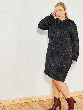Lange jurk van fijn tricot - Kiabi