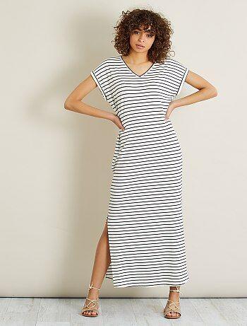 Lange jurk van tricot - Kiabi