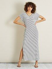 Lange jurk van tricot