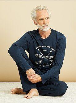 Lange, katoenen pyjama met print