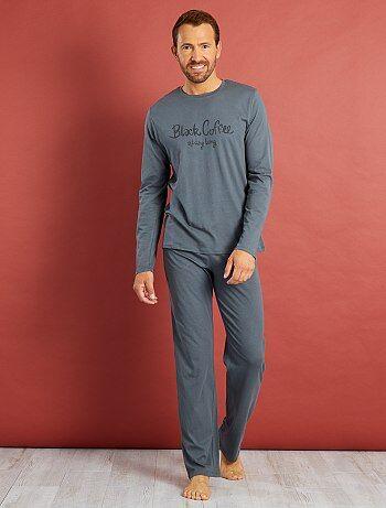 Lange, katoenen pyjama met print - Kiabi