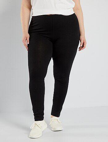 Dames Size+ - Lange, katoenen stretch legging - Kiabi