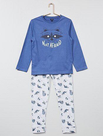 Lange lichtgevende pyjama 'wasbeer' - Kiabi