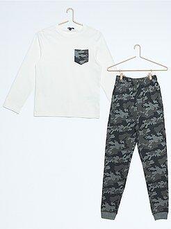 Pyjamas - Lange pyjama met camouflageprint