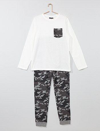 Lange pyjama met camouflageprint - Kiabi