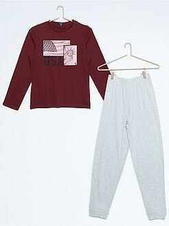 Pyjamas - Lange pyjama met een New-York print