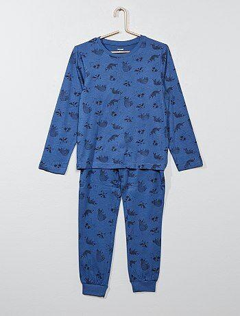 Lange pyjama met print - Kiabi