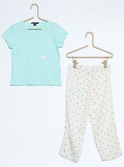 Meisjes pyjama - Lange pyjama met print