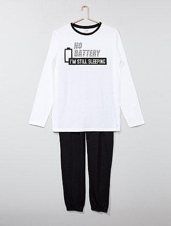 Lange pyjama van 100% katoen - Kiabi