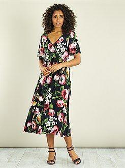 Lange soepele, gebloemde jurk - Kiabi