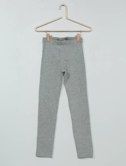 Lange stretch legging                             GRIJS