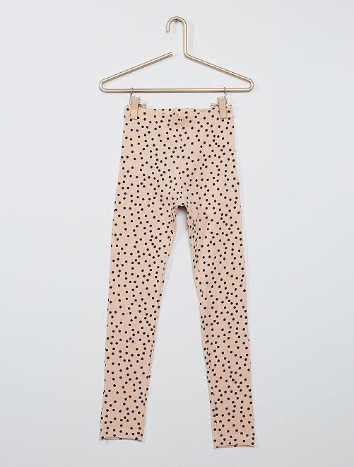 Legging met stippenprint 'Ecodesign'                                                                             beige / zwart