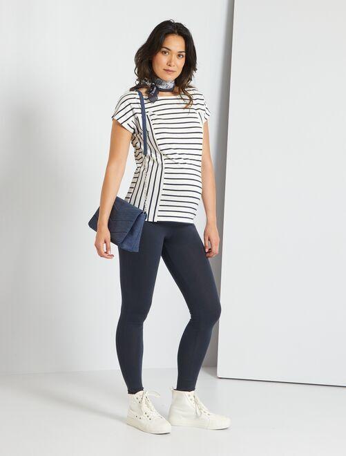 Leggings stretch                                         blauw Zwangerschapskleding