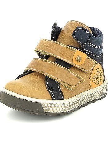 Leren schoenen met klittenband - Kiabi