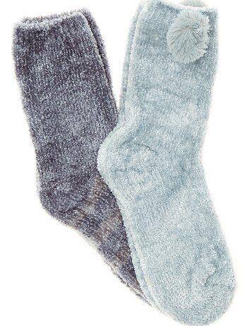 Leuke fleece sokken - Kiabi