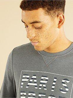 Sweaters - Lichte sweater van joggingstof met print
