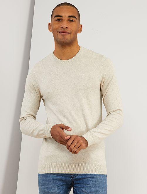 Lichte trui met een ronde hals                                 biege