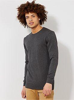 Trui, vest - Lichte trui met een ronde hals