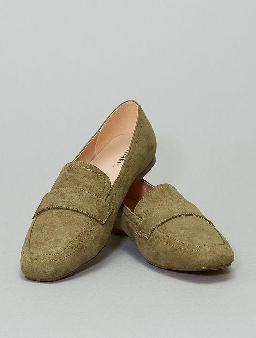 Loafers van microvezel                             KAKI