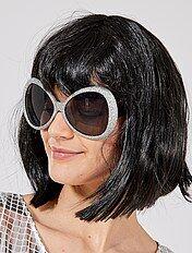 Maxi zonnebril met pailletten