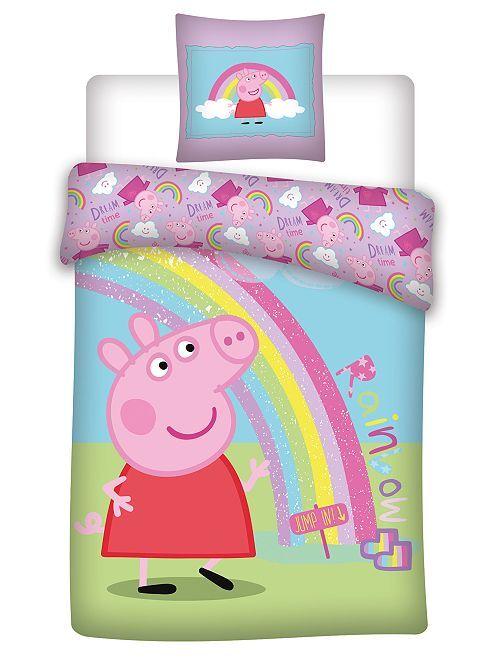 Microvezel dekbedovertrekset van 'Peppa Pig'                             BLAUW