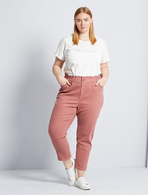 Mom broek met hoge taille                                         ROSE
