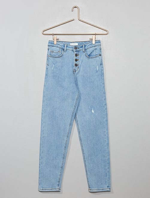 Mom-fit, destroy jeans                                 BLAUW