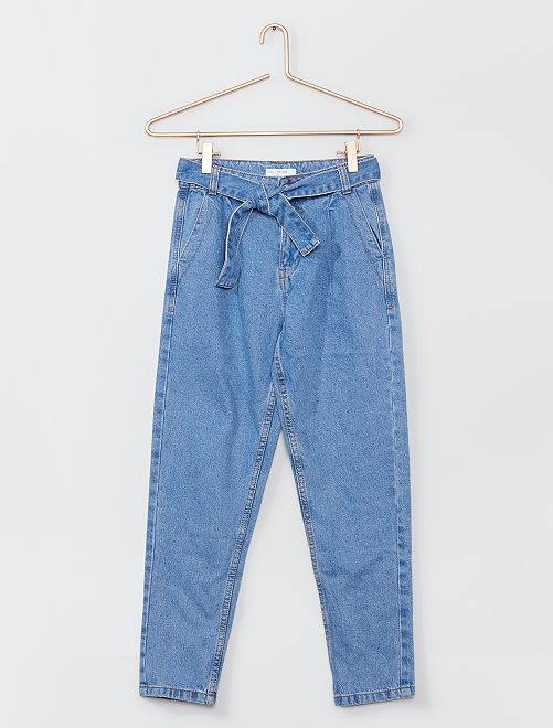 Mom-fit jeans                                         BLAUW