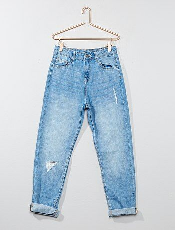 Mom-jeans van 100% katoen - Kiabi