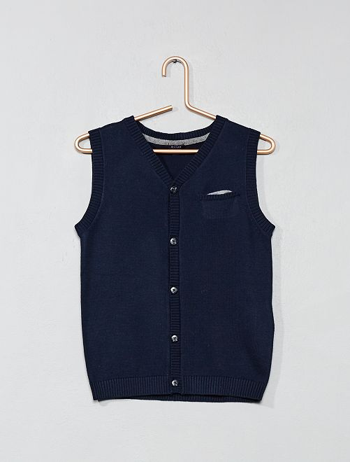 Kinderkleding Jongens.Mouwloos Vest Kinderkleding Jongens Blauw Kiabi 8 00