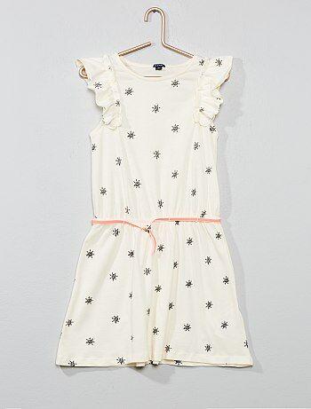 d312d798391589 Mouwloze jurk met ruches - Kiabi