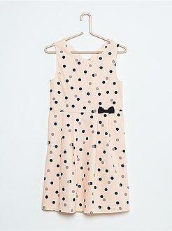 Mouwloze jurk van katoen met print