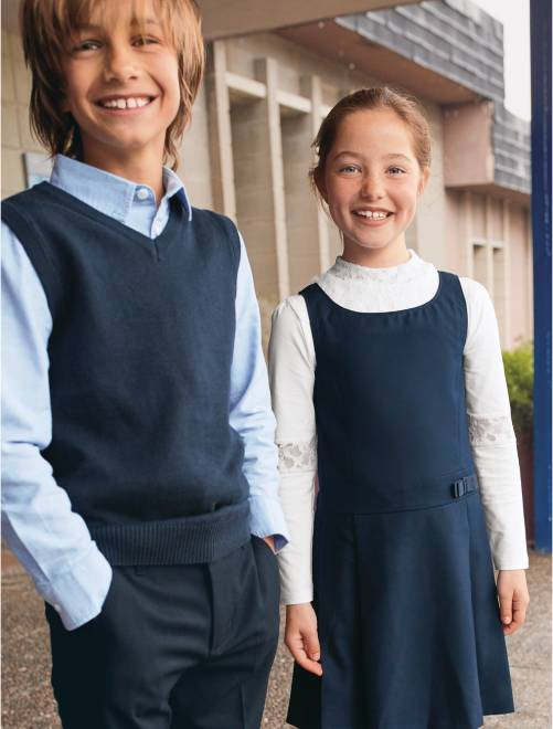 Mouwloze Trui.Mouwloze Trui Met V Hals Kinderkleding Jongens Blauw Kiabi 5 60