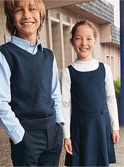 Mouwloze trui met V-hals