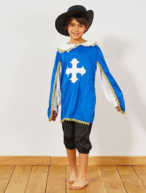 Musketier verkleedkostuum                             blauw