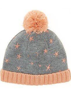 Kinder accessoires - Muts van tricot met fleecevoering