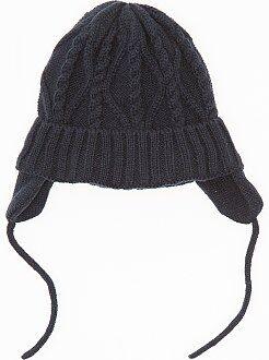 Accessoires - Muts van tricot met oorwarmers