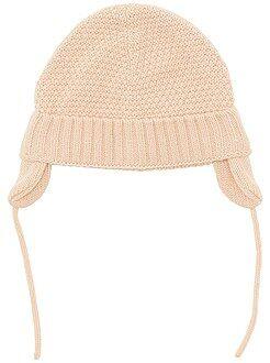 Accessoires - Muts van tricot met oorwarmers - Kiabi
