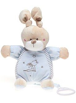 Knuffel, knuffeldoek - Muziekknuffel konijn